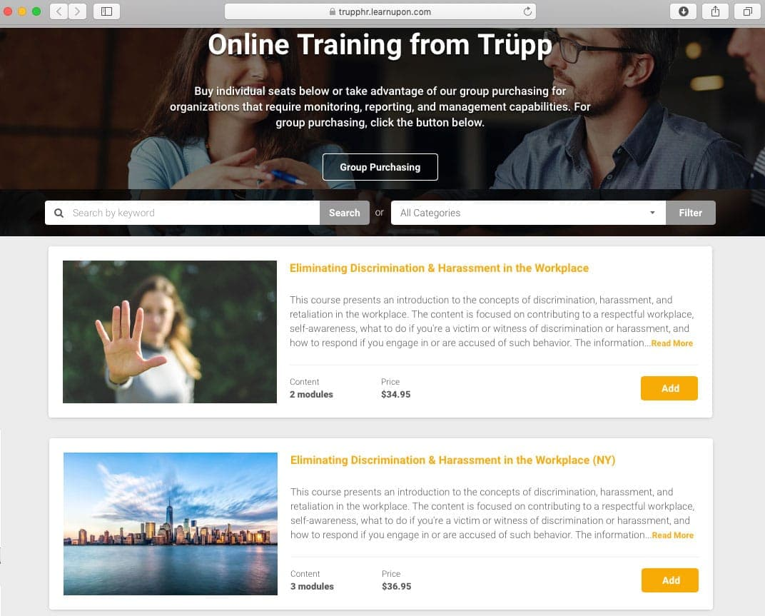 online courses from Trupp