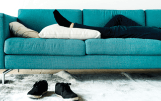 family medical leave act laying on couch