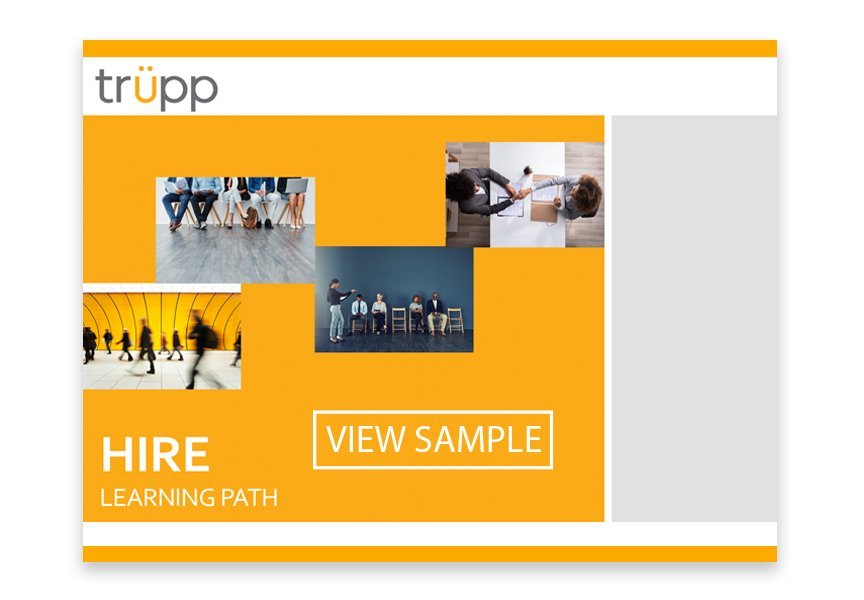 Sample learning path facilitator's guide presentation template | Trüpp