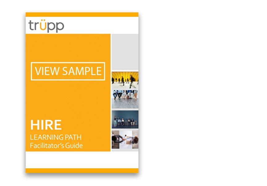 Sample learning path facilitator's Guide | Trüpp
