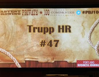 Trupp HR Awarded Fastest Growing Private 100 Companies in Oregon!